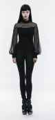 cotton-mesh-high-collar-long-sleeve-shirt