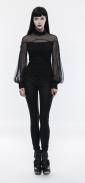 cotton-mesh-high-collar-long-sleeve-shirt