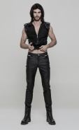 slim-cut-faux-leather-pants