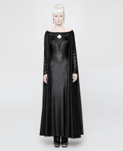 textured-cape-gown