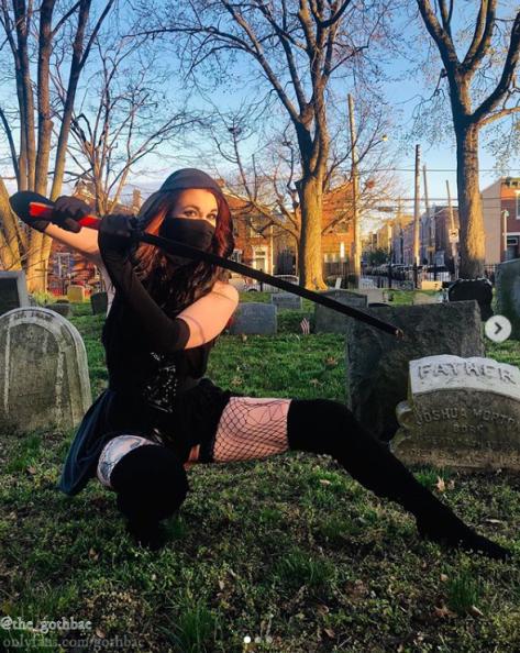 Goth Bae Photo in Graveyard